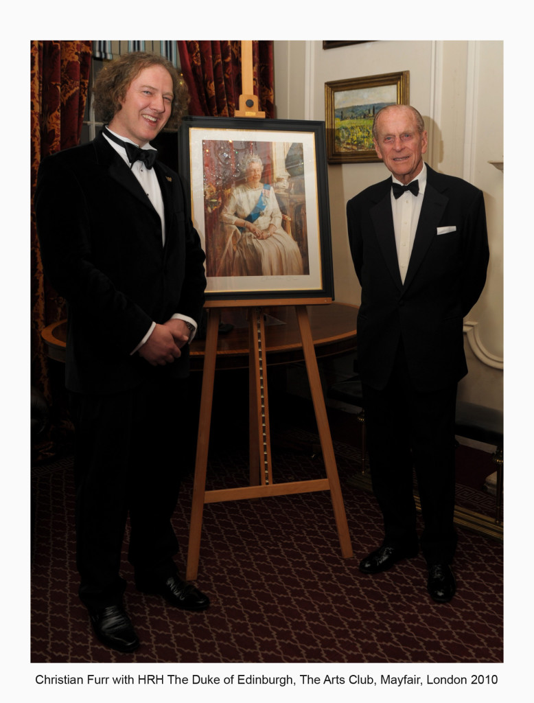 Christian Furr with the Duke of Edinburgh_ Arts Club_ Mayfair 2010 titled