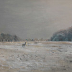 Richmond Park in the Snow, Christian Furr, painting