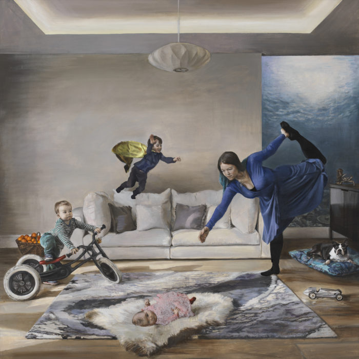 The Play of Air and Water, Christian Furr, family, portrait, painting