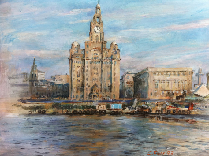 The Liver Building, Christian Furr, painting