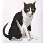 cat, kitten, Pet portrait, pet portraits, painting, christian furr, jack russell, animal, animals, painting, paintings, cats