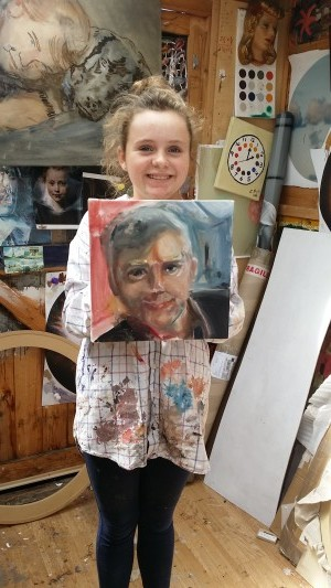 Evie's painting of her father Joe