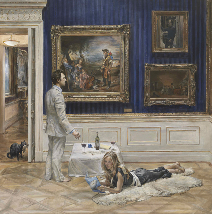 Thomas van Straubenzee and Lady Melissa Percy, Prince William, Prnice Harry, Christian Furr, portrait, painting