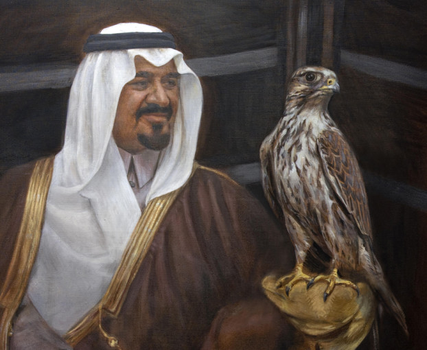 Saudi royal family portrait, christian furr, painting