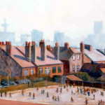 Liverpool Schoolyard, Christian Furr, painting