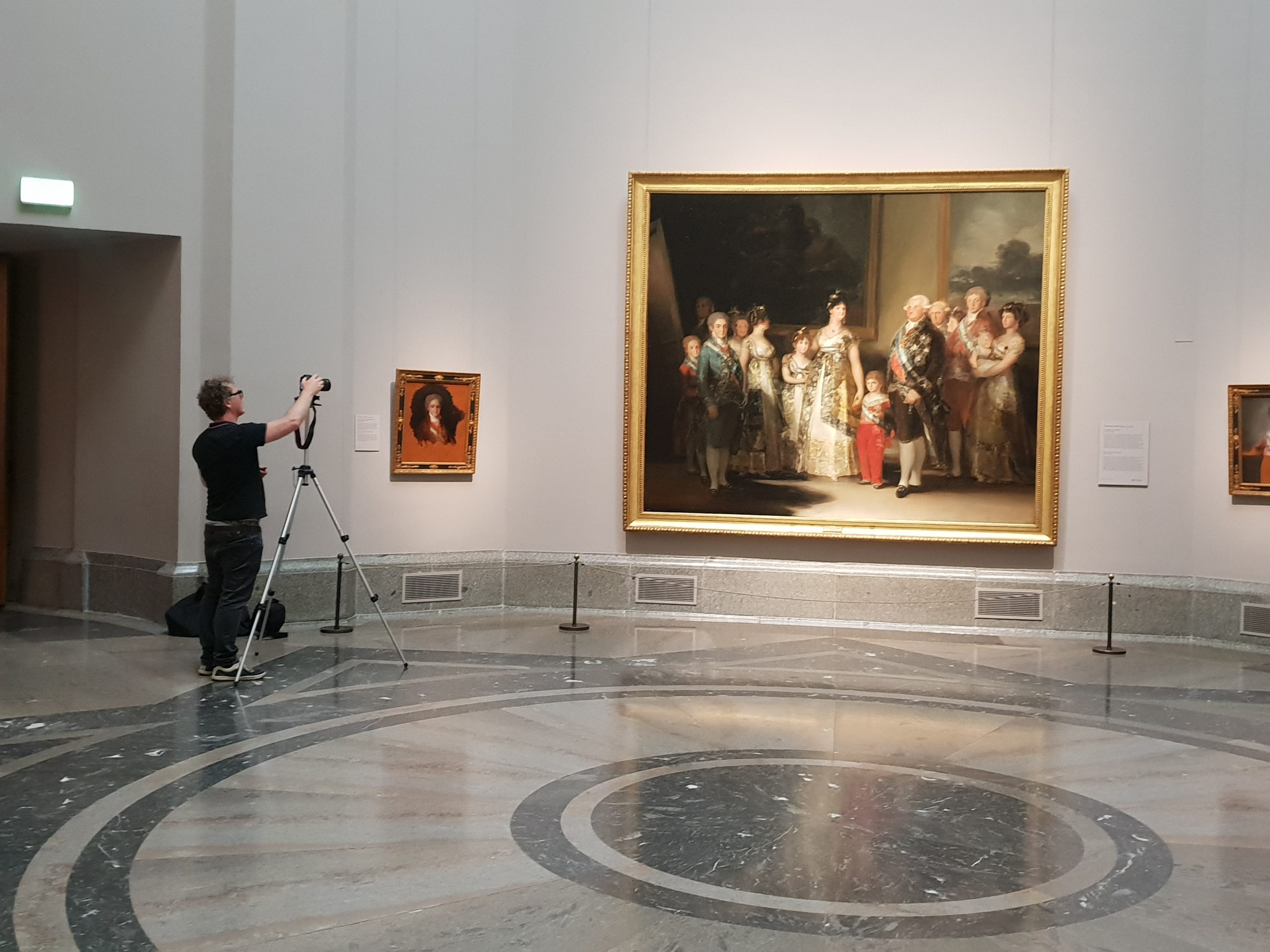Christian Furr Photographing in th Prado, Madrid