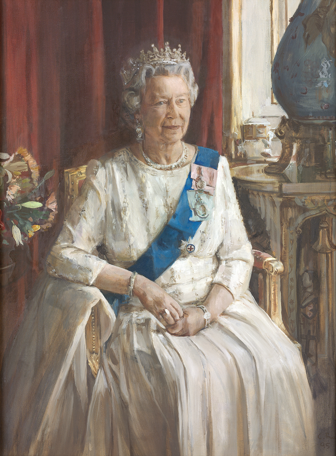 Queen Elizabeth II by Christian Furr 1995